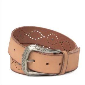 FRYE Western Studded Leather Belt